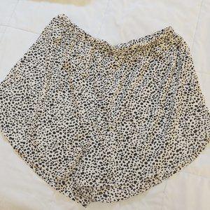 Dalmatian Wide Leg Shorts SHEIN